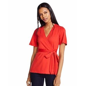 Ann Taylor Women's Ponte Belted Wrap Top